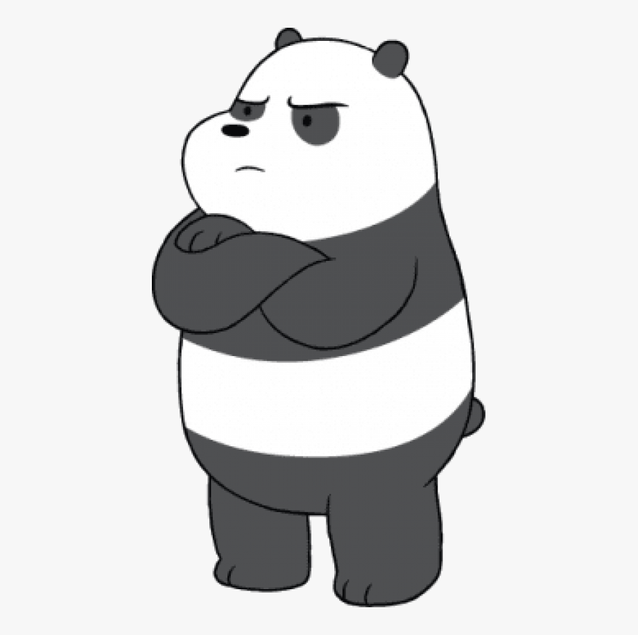 Free Download We Bare Bears Panda Angry Clipart Angry