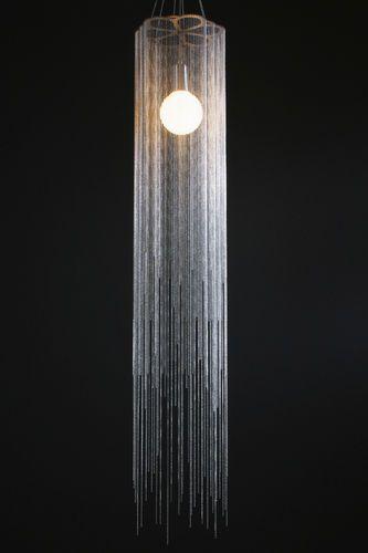 Design metal pendant lamp custom made scalloped lantern feathered willowlamp