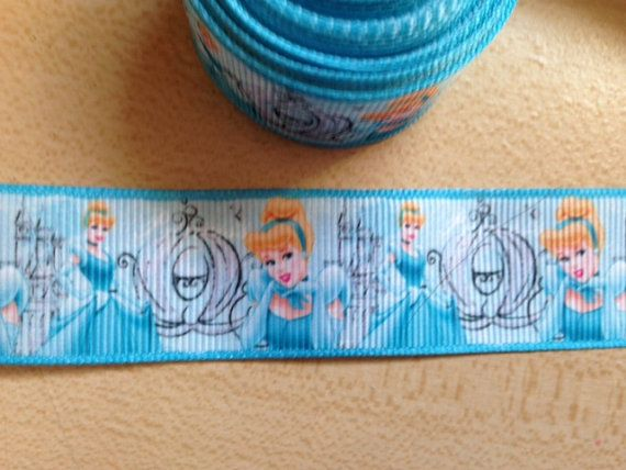 3 yd Cinderella & carriage grosgrain ribbon 1  by SewHappyTrims, $3.99