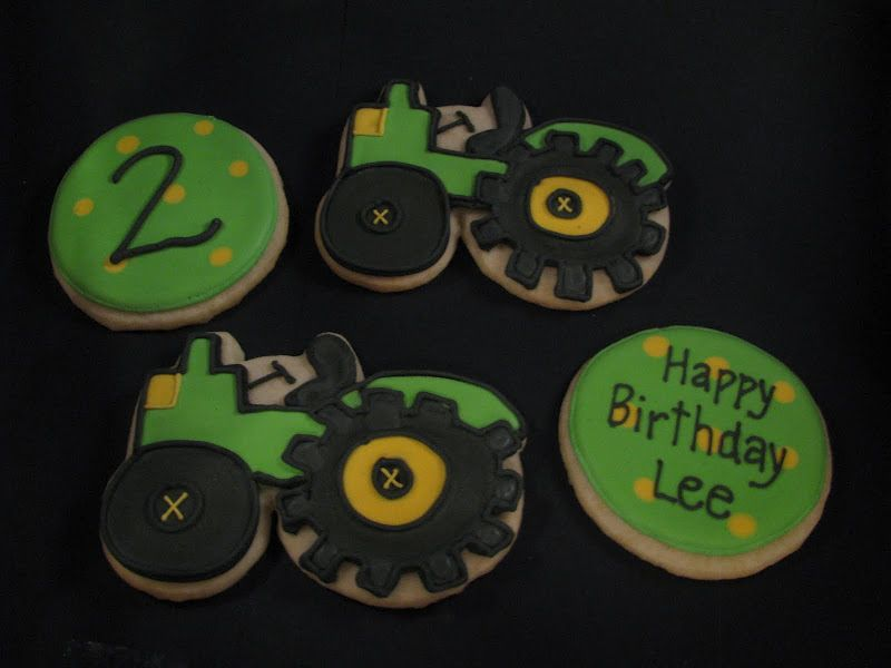 tractor party-cookies