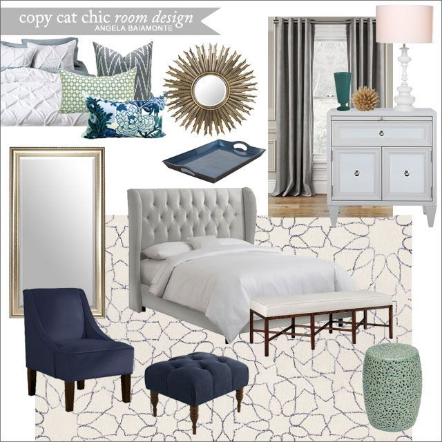 A Luxe Navy Master Bedroom For 3943 Angela Baiamonte