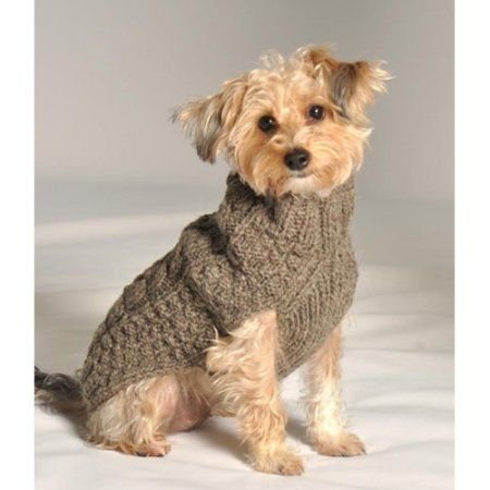 Chilly Dog Grey Cable Dog Sweater Walmart Com Dog Clothes