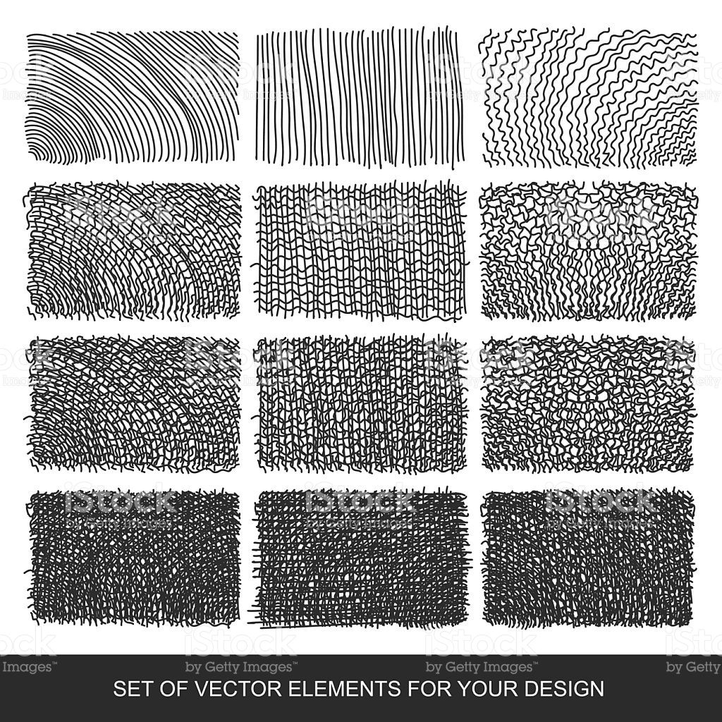 Set Drawing Gra Nt Texture Brushes Hand Drawn Abstract