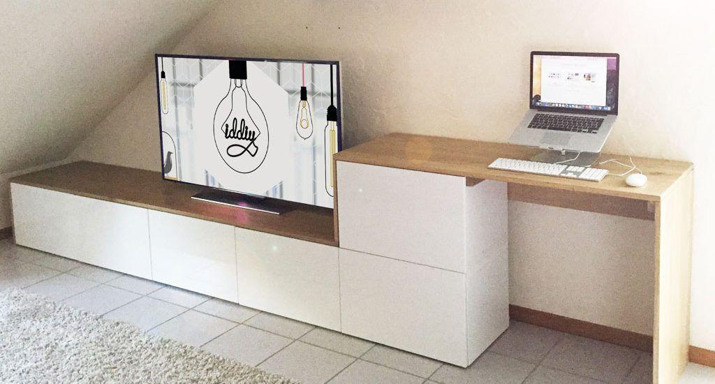 meuble tv diy meubles meuble tv meuble et meuble tv ikea. Black Bedroom Furniture Sets. Home Design Ideas