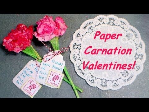 paper carnation valentines