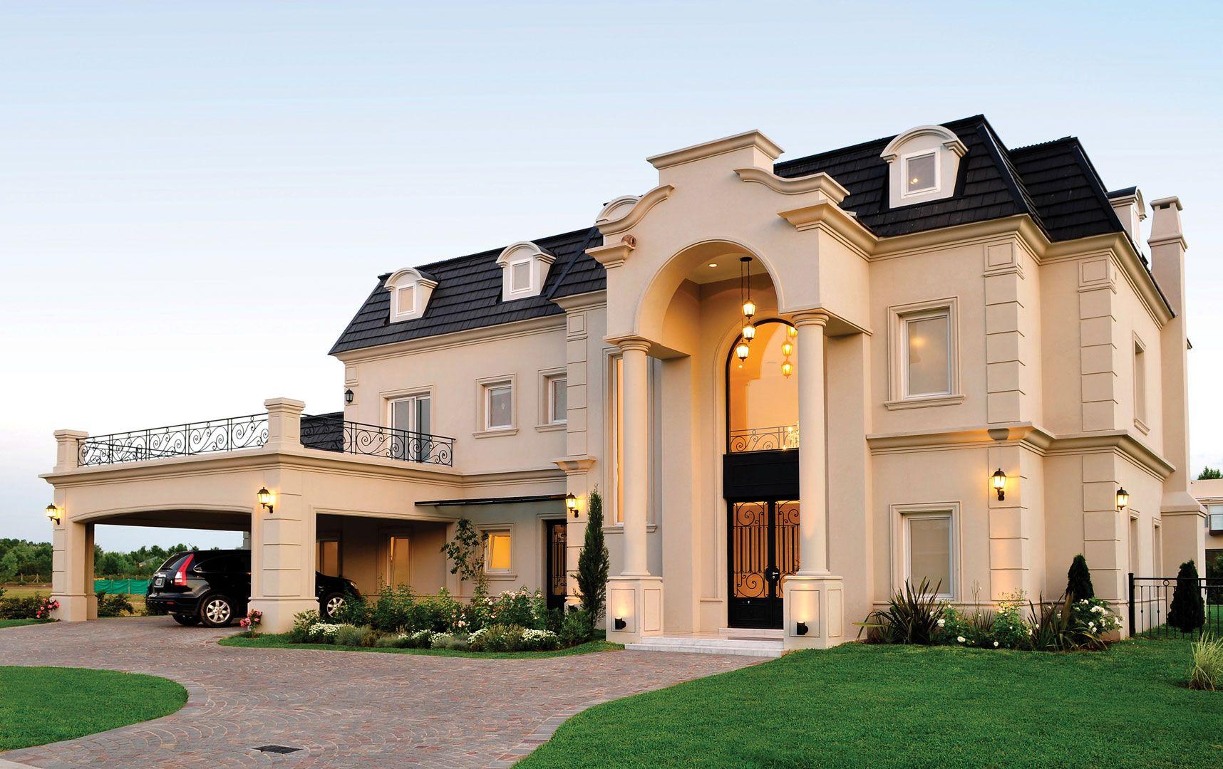 Fern ndez borda arquitectura portal house and exterior - Casas estilo frances ...
