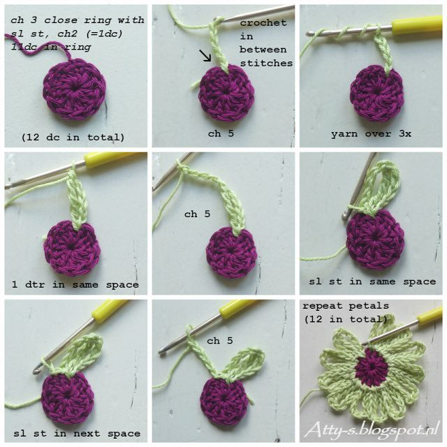 Foto Tutorial + Video: Chal de Flores a Crochet | crochet patrones ...
