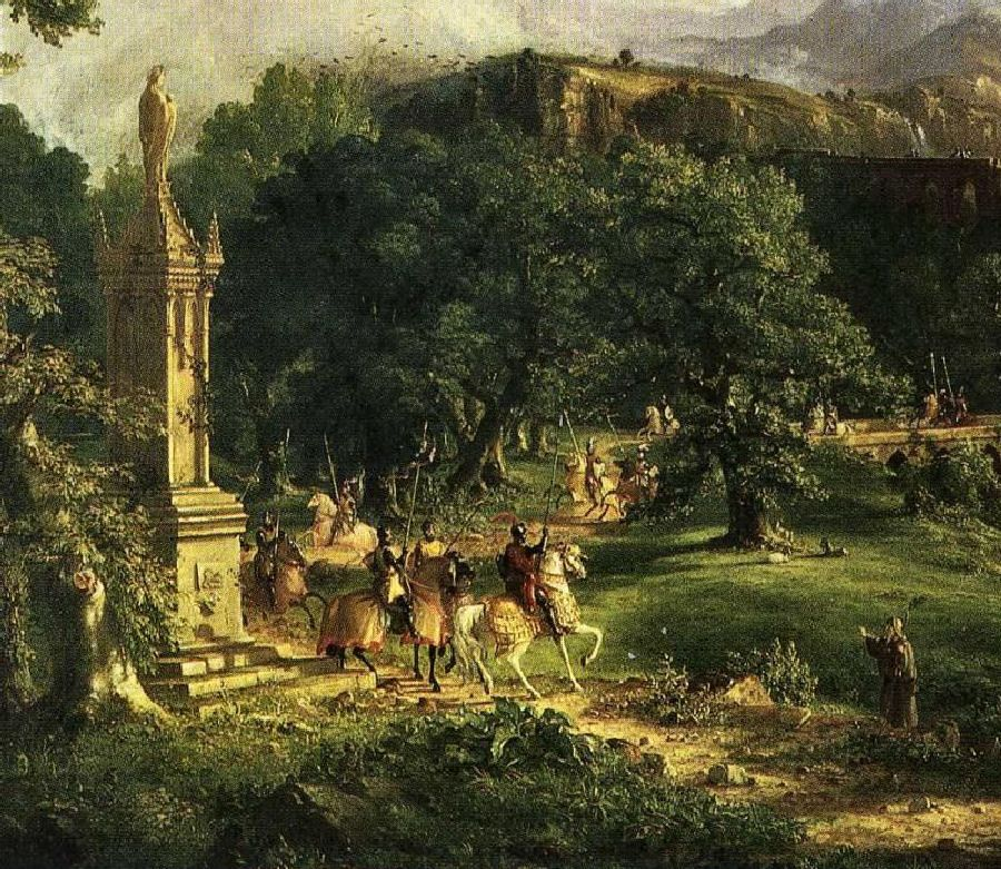 Thomas Cole: The Departure. Detail. 1838. Oil on canvas.