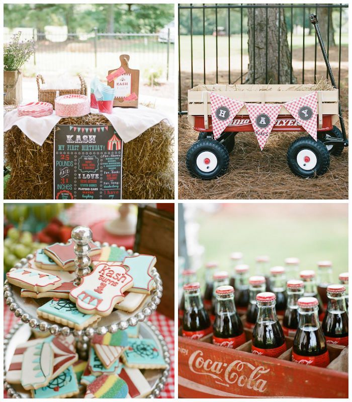 Vintage County Fair Carnival 1st Birthday Party