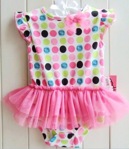 Sanrio Hello Kitty Pink Tutu Polka DOT Romper ONE Piece Outfit 3 6 6 12 18 18 24   eBay