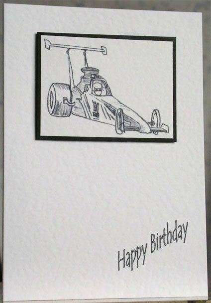 148 Drag Racing Birthday Card Handmade Dragracing Drag Racing