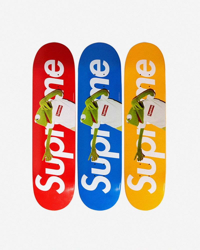 f7d84bead0 Supreme collab with Kermit the Frog | Art II | Skateboard, Supreme ...