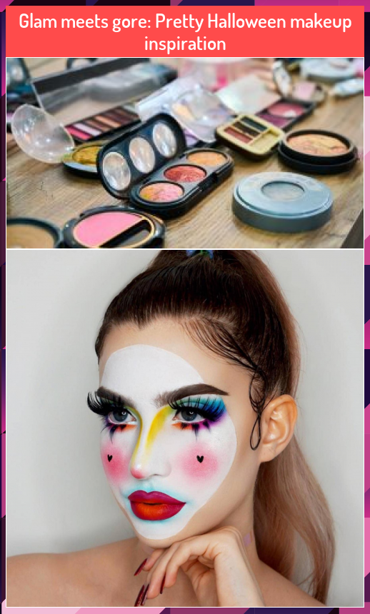 Glam meets gore Pretty Halloween makeup inspiration in