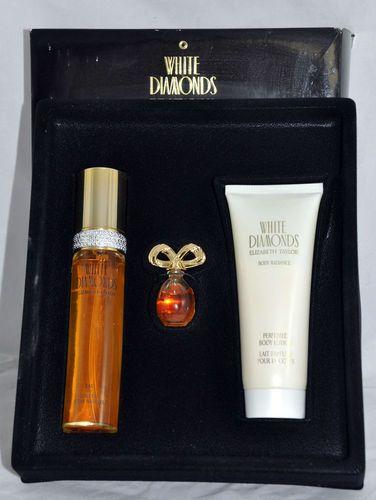 White Diamonds Elizabeth Taylor 3 Pc Set Eau De Toilette Parfum Lotion Boxed Spray Parfum Body Radiance Lotion Size Perfume Diamond White Eau De Toilette