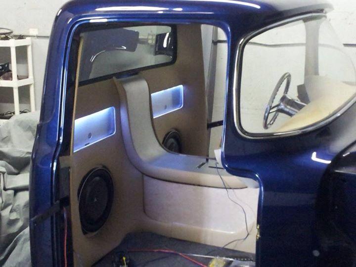 1956 Ford F100 Interior Interior Custom Car Audio Truck Interior Car Audio Installation