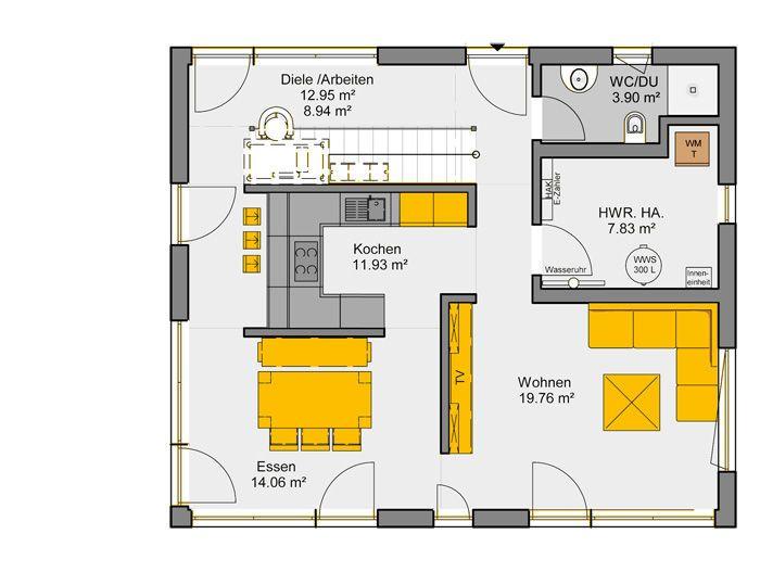 Aktionshaus akzento grundriss eg grundriss in 2019 for Hauser plane einfamilienhaus