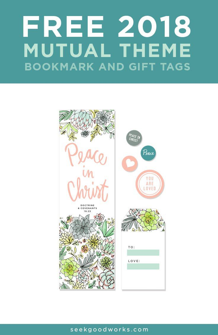 LDS Young Women  2018 Mutual Theme Free Printables: Peace in