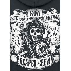 Photo of Sons Of Anarchy Reaper Crew Herren-Kapuzenjacke – schwarz – Offizieller & Lizenzierter Fanartikel