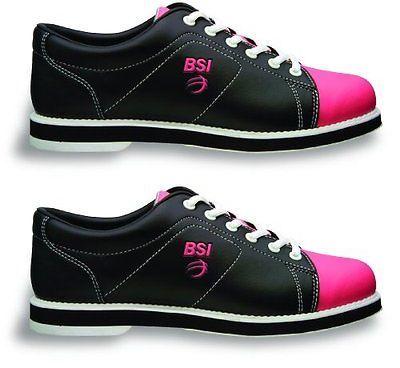 Women 159107: Bsi Womens #651 Bowling Shoes, Black Pink, Size 9.0 -