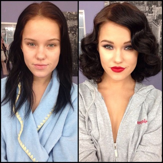 фото девушек до и после