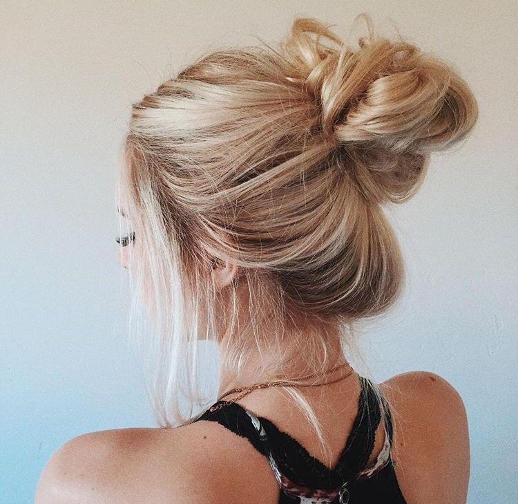 Hairstyles That Wont Damage Your Hair Messy Bun Braid Healthy Hair Thin Hair Updo Hair Styles Messy Hairstyles