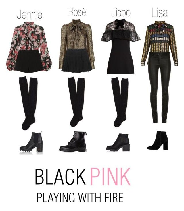 Black Pink Playing With Fire Clothes Kpop Fashion
