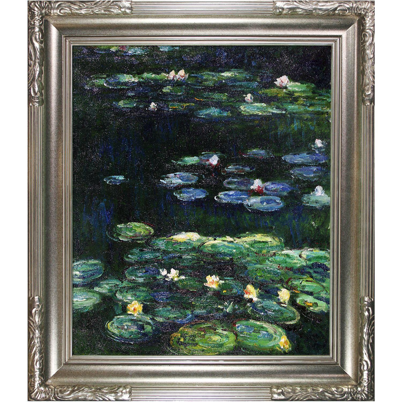 Claude Monet \'Water Lilies\' Hand Painted Framed Art | Claude Monet ...