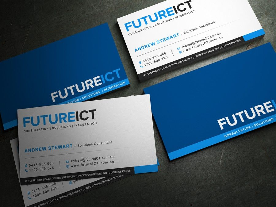 New Business Card Wanted For Future Ict By Mili Mi Custom Business Cards Business Cards Cards