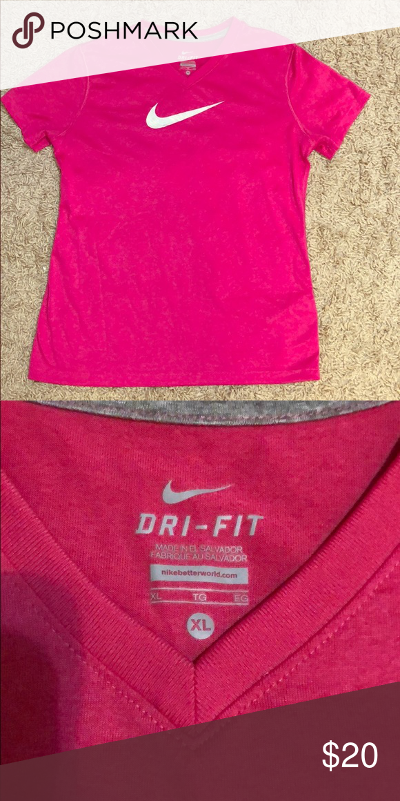 b76b7a46 Girls Nike Athletic Shirt (Kids Size) Perfect Condition Kids Nike Dri-Fit.  Gently used in a smoke free home Nike Tops Tees - Short Sleeve