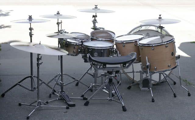Single Rack Tom Double Bass Drum Kit