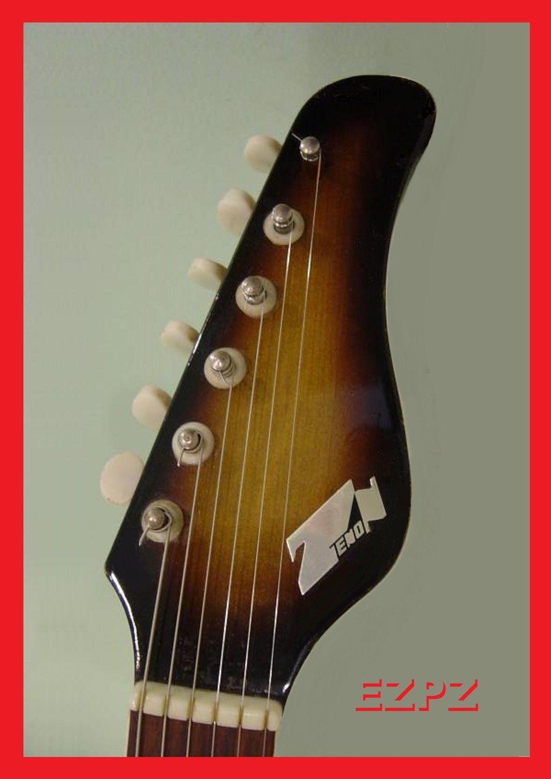 vintage 60\u0027s style zenon guitar headstock logo zen on 60 70