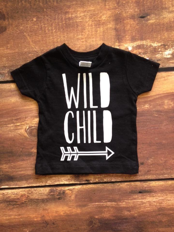 Wild Child Toddler Tshirt T Shirt Kids Shirts Vinyl Shirts