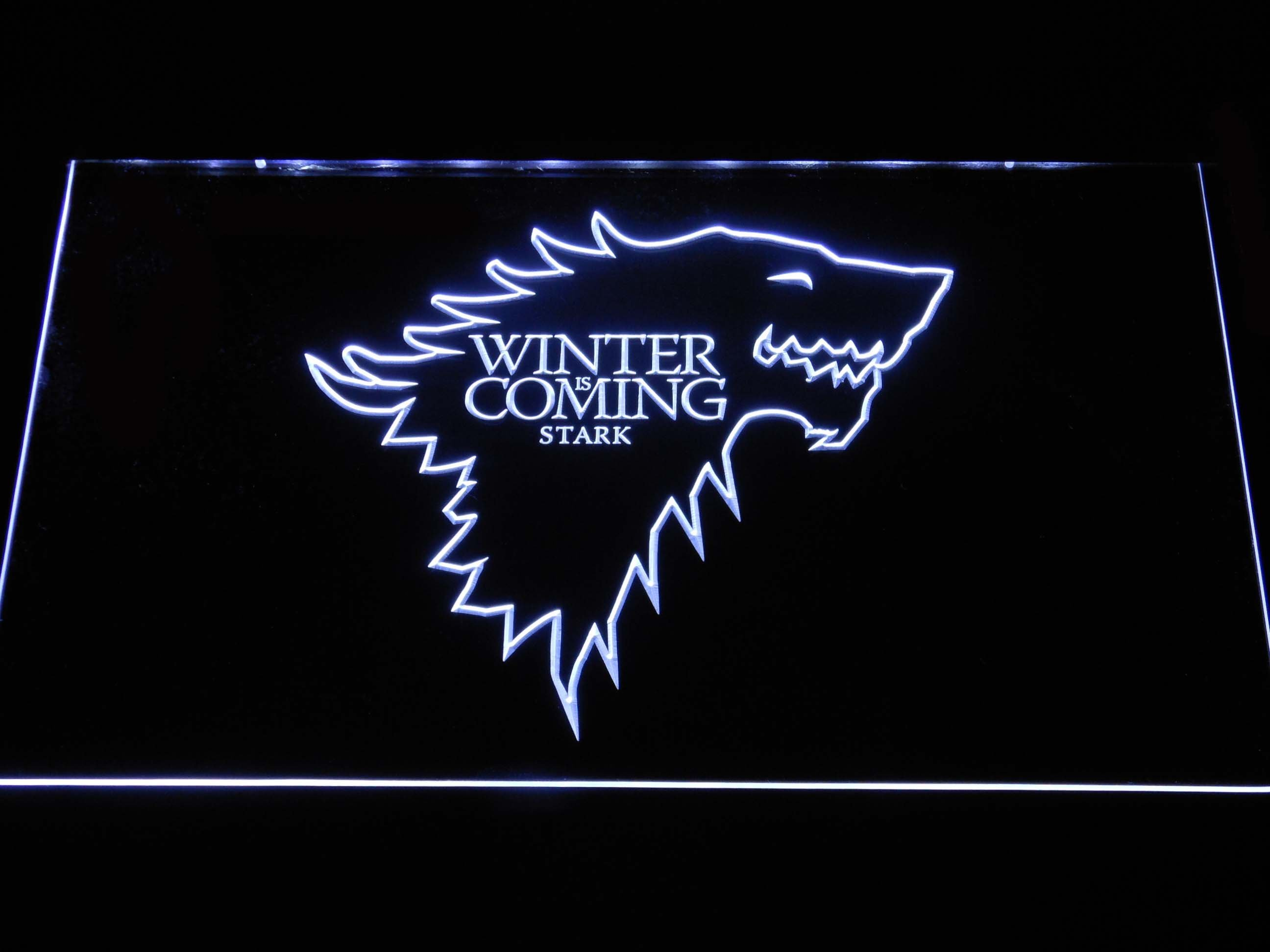 Game Of Thrones Stark Winter Is Coming Outline Led Neon Sign
