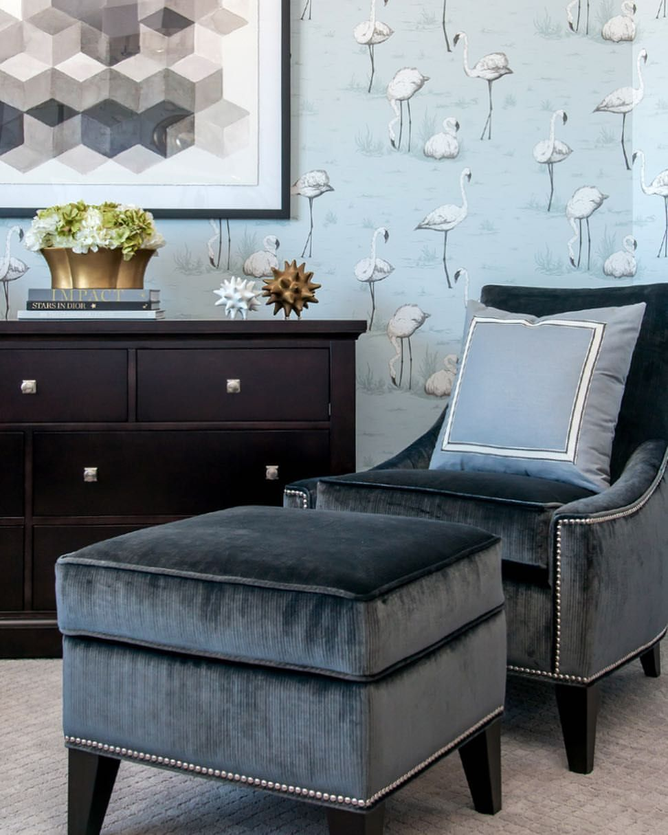 Chair and ottoman with images cozy corner chair and