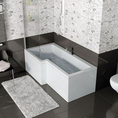 shower baths l shaped baths and p shaped baths at bathroom city - Bath Bathroom