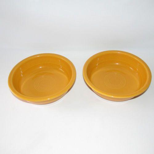 2 Fiesta Marigold Soup Cereal Bowls 7\