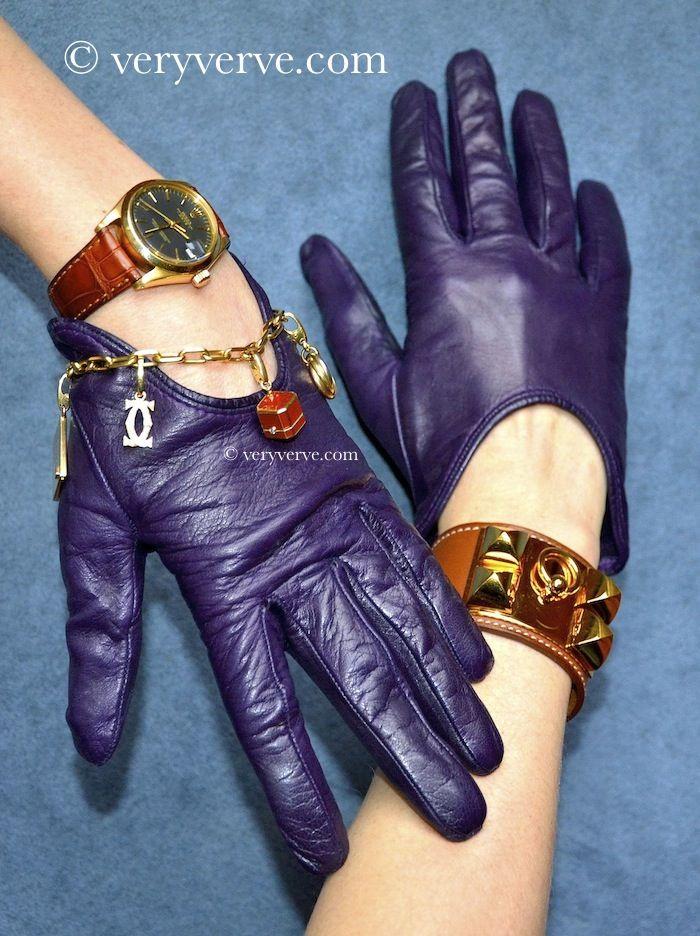 veryverve: Trendy Sermoneta gloves to show off your jewelry.