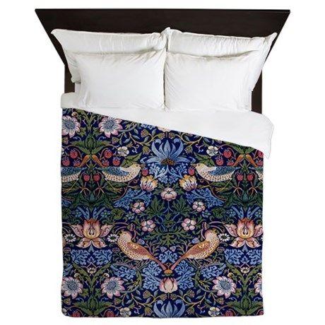 William Morris Strawberry Thief Queen Duvet By Fineartdesigns Cafepress Duvet Design Queen Duvet Full Duvet Cover