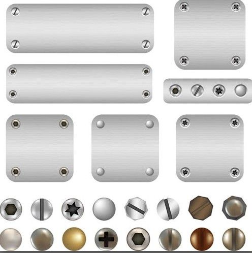 Free Vector Metal and Rivets Background 02 - TitanUI