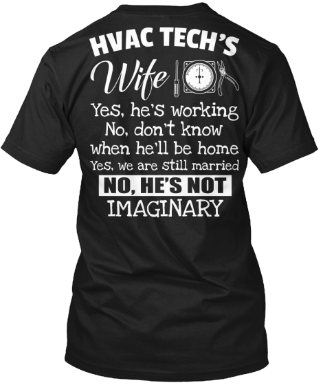 Hvac Tech S Wife Teespring Repined By Your Cooling Heating
