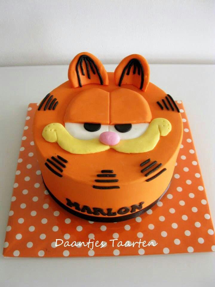 Brilliant Garfield Birthday Bolo Garfield Bolo De Gato Bolos Novidade Personalised Birthday Cards Veneteletsinfo