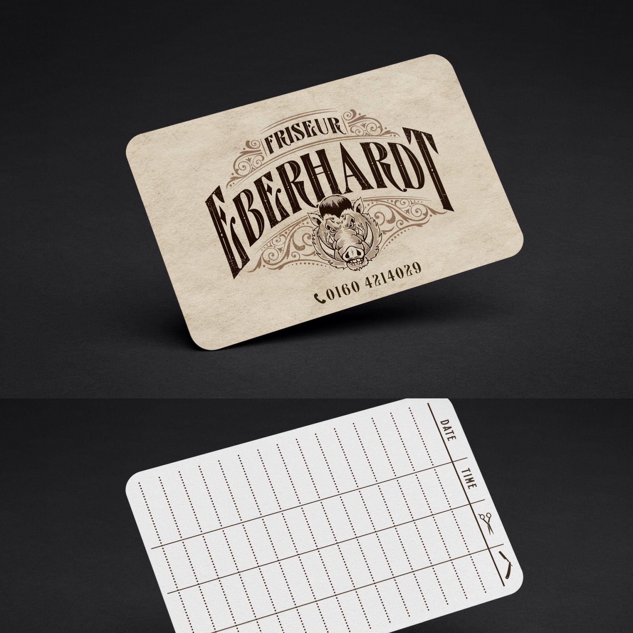 Bonus Card Design For Local Barbershop Karten Und