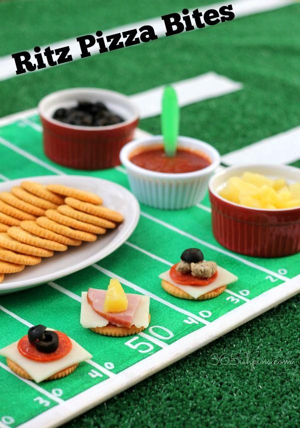 Ritz pizza bites #SuperBowl #Football #FootballParty #PartyFood