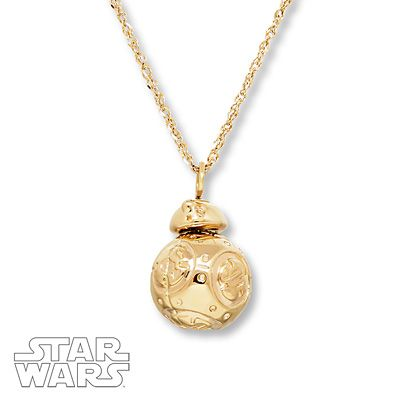 Star Wars Necklace C-3P0 10K Yellow Gold PDHVyH