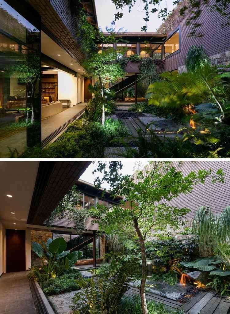 Jardin d\'intérieur : la nature au cœur d\'une maison mexicaine ...