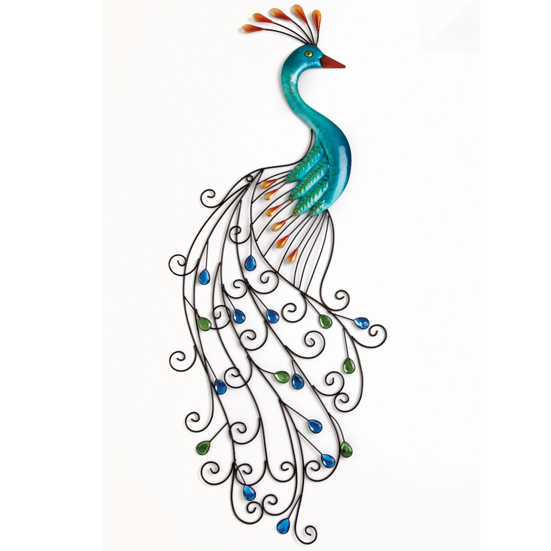 Metal Peacock Wall Art | Home Decor | Brylanehome