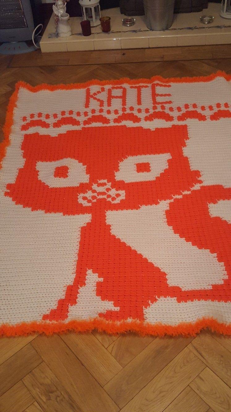 Cat blanket for kate cat blanket crochet blanket blanket