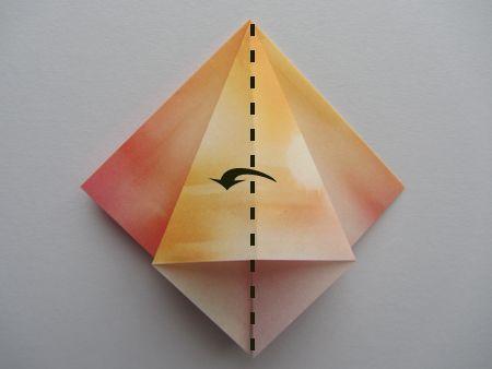 Origami Frog Base Step 4 Paper Folding Pinterest Origami Frog