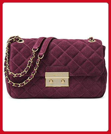1cea25fe290e MICHAEL Michael Kors Sloan Large Chain Suede Shoulder Bag Plum - Shoulder  bags ( Amazon Partner-Link)
