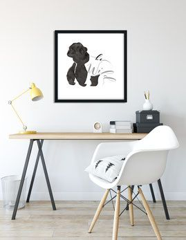 Gorilla illustration aquarel poster design